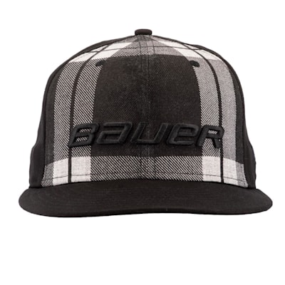 (Bauer New Era 9Fifty Plaid Adjustable Cap - Black/Grey - Adult)
