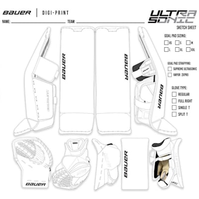 (Bauer Digi-Print Custom Supreme Ultrasonic Goalie Leg Pads - Senior)
