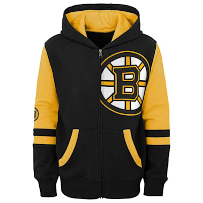 (Adidas Faceoff FZ Fleece Hoodie - Boston Bruins - Youth)