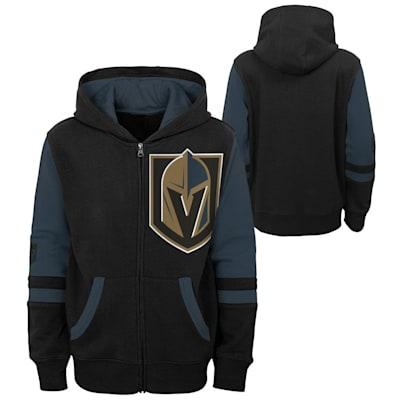 (Adidas Faceoff FZ Fleece Hoodie - Vegas Golden Knights - Youth)