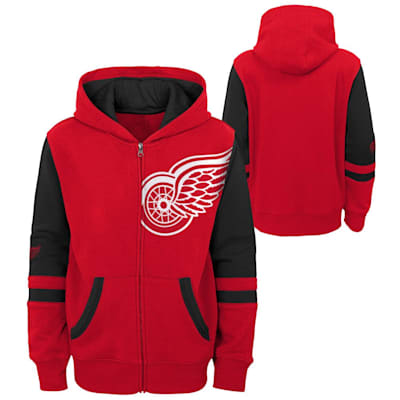 (Adidas Faceoff FZ Fleece Hoodie - Detroit Red Wings - Youth)