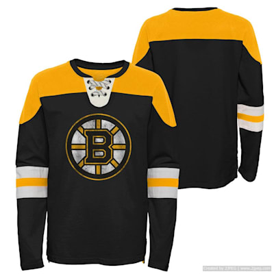 (Adidas Goaltender LS Top - Boston Bruins - Youth)