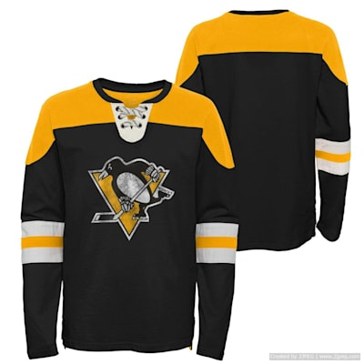 (Adidas Goaltender LS Top - Pittsburgh Penguins - Youth)