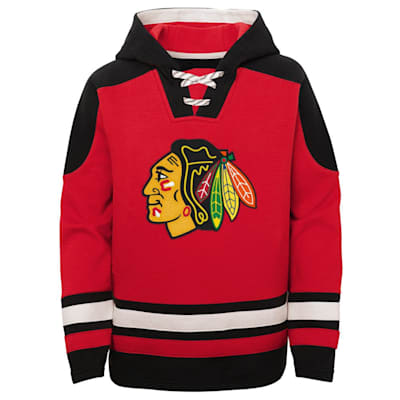 (Adidas Ageless Must Have Pullover Hoody - Chicago Blackhawks - Youth)