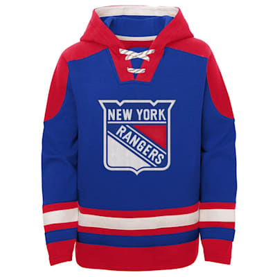 (Adidas Ageless Must Have Pullover Hoody - New York Rangers - Youth)