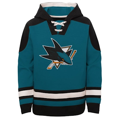 (Adidas Ageless Must Have Pullover Hoody - San Jose Sharks - Youth)