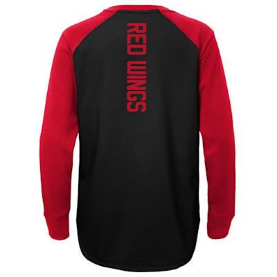 (Adidas Undisputed Long Sleeve Crew Tee - Detroit Red Wings - Youth)