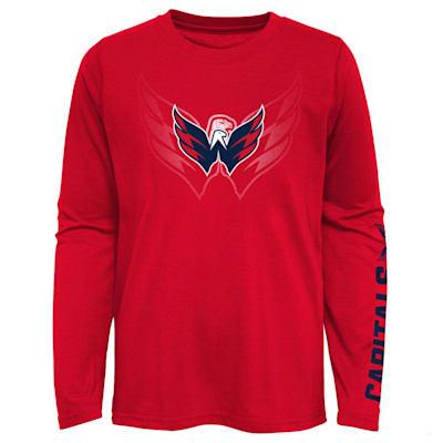 (Adidas Stop The Clock Long Sleeve Tee Shirt - Washington Capitals - Youth)