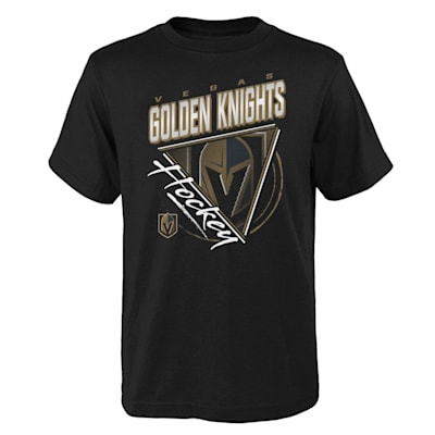 (Adidas Angled Attitude Short Sleeve Tee Shirt - Vegas Golden Knights - Youth)