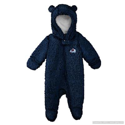 (Adidas Teddy Fleece Bunting Pram - Colorado Avalanche - Newborn)