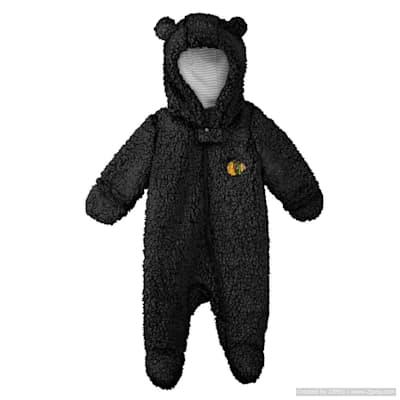(Adidas Teddy Fleece Bunting Pram - Chicago Blackhawks - Newborn)