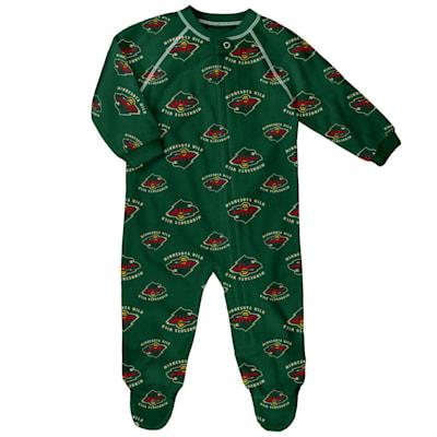(Adidas Raglan Zip Up Coverall - Minnesota Wild - Newborn)