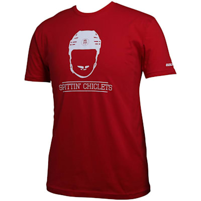 (Bauer Spittin' Chiclets NHL City Tee Shirt - Red/White - Adult)