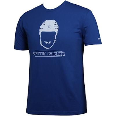 (Bauer Spittin' Chiclets NHL City Tee Shirt - Blue/White - Adult)