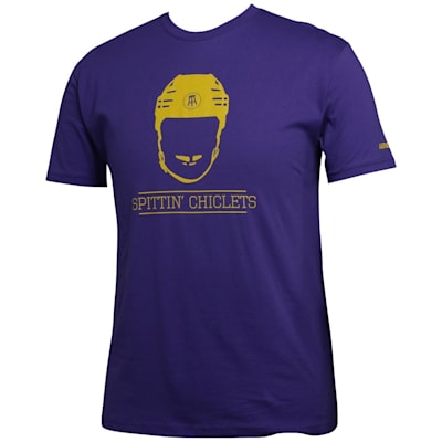 (Bauer Spittin' Chiclets NHL City Tee Shirt - Purple/Gold - Adult)