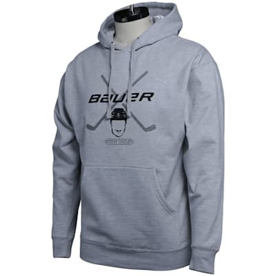 (Bauer Spittin' Chiclets Co-Lab Hockey Stick Hoodie - Grey/Black - Adult)