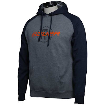 (Bauer Barstool Co-Lab Hoodie - Grey/Navy - Adult)