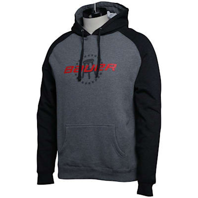 (Bauer Barstool Co-Lab Hoodie - Grey/Charcoal - Adult)