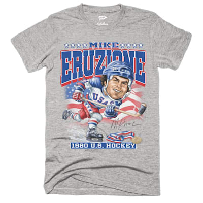 (Streaker Sports 1980 USA Mike Eruzione Caricature Tee - Adult)
