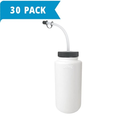 (White Water Bottle w/Straw - 30-pack)