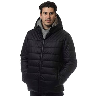 (Bauer Supreme Hooded Puffer Jacket - Black - Adult)