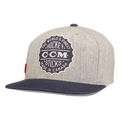 (CCM Heritage Bottle Cap Flat Brim Snapback Cap - Adult)