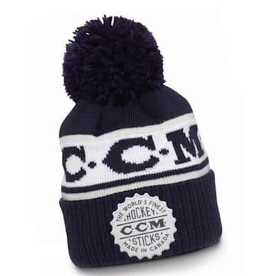 (CCM Heritage Cuffed Pom Knit Hat - Adult)