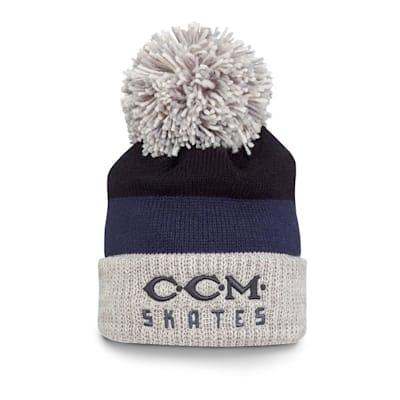 (CCM Vintage Skates Pom Knit Hat - Adult)