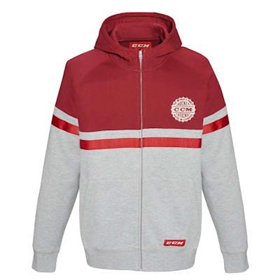 (CCM Heritage Logo Full Zip Fleece Hoodie - Youth)