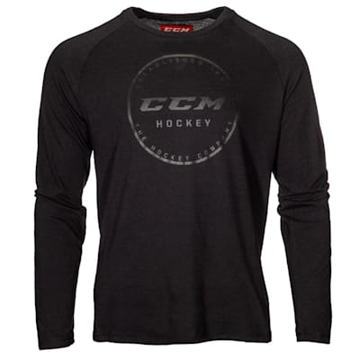 (CCM Go Dark Long Sleeve Rink Tee Shirt - Youth)
