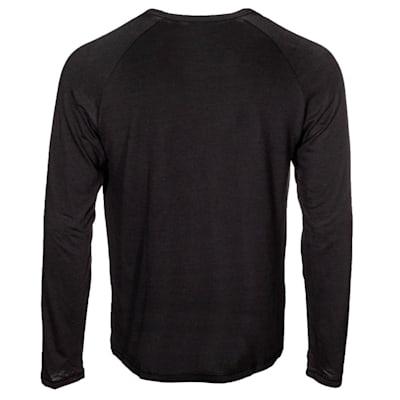 (CCM Go Dark Long Sleeve Rink Tee Shirt - Adult)