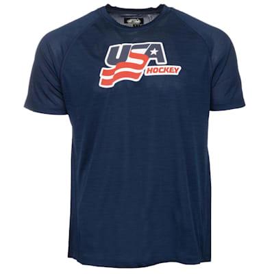 (USA Hockey Performance Short Sleeve Tee - Adult)