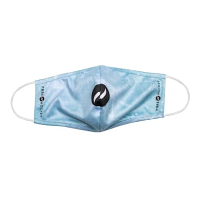 (Pure Hockey Water Repellent Face Mask - Blue Ice - Adult)