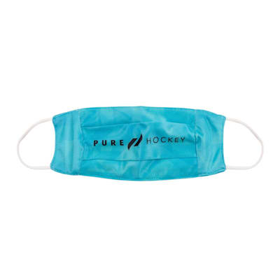 (Pure Hockey HeiQ Antiviral Washable Face Mask - Teal - Adult)