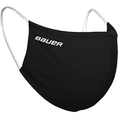 (Bauer Reversible Fabric Face Mask - Black/Camo)