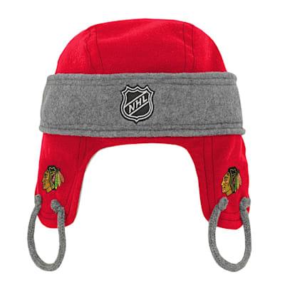 (Adidas Kids Fleece Hockey Helmet – Chicago Blackhawks - Youth)