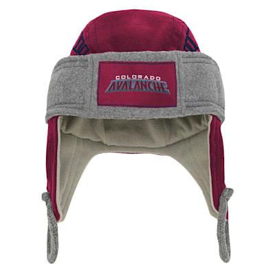 (Adidas Kids Fleece Hockey Helmet – Colorado Avalanche - Youth)