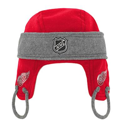 (Adidas Kids Fleece Hockey Helmet – Detroit Red Wings - Youth)