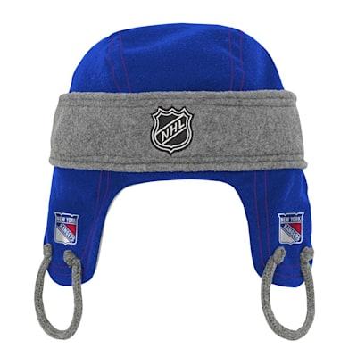 (Adidas Kids Fleece Hockey Helmet – New York Rangers - Youth)