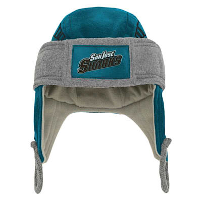 (Adidas Kids Fleece Hockey Helmet – San Jose Sharks - Youth)
