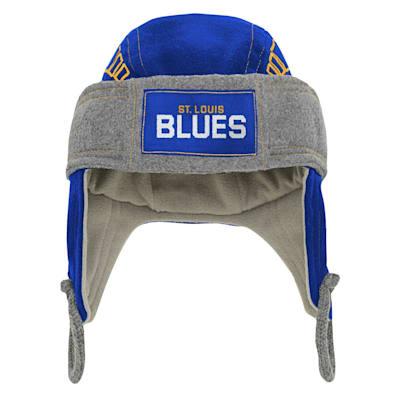 (Adidas Kids Fleece Hockey Helmet – St. Louis Blues - Youth)