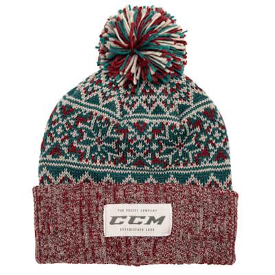 (CCM Holiday Pom Knit Hat - Adult)