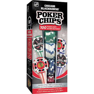 (MasterPieces 100 Pack Poker Chips - Chicago Blackhawks)
