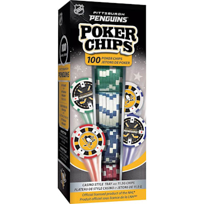 (MasterPieces 100 Pack Poker Chips - Pittsburgh Penguins)