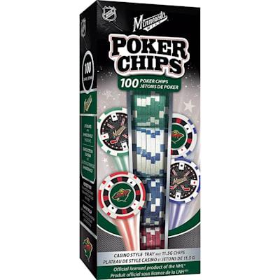 (MasterPieces 100 Pack Poker Chips - Minnesota Wild)