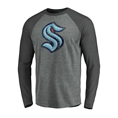 (Fanatics Vintage Long Sleeve Raglan T-Shirt - Seattle Kraken - Adult)