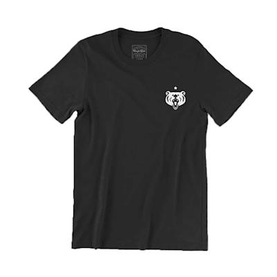 (Pacific Rink Members Club Short Sleeve Tee - Black - Adult)