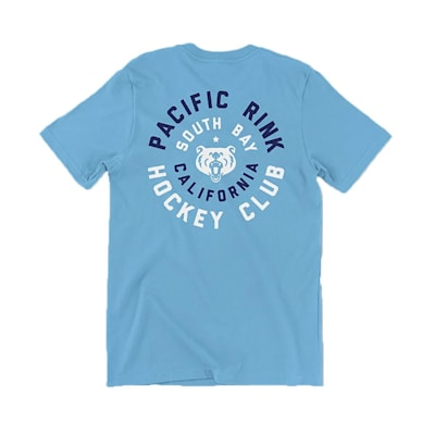 (Pacific Rink Members Club Short Sleeve Tee - Ocean Blue - Adult)