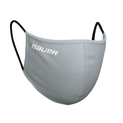 (Bauer Reversible Fabric Face Mask - Grey/Camo)