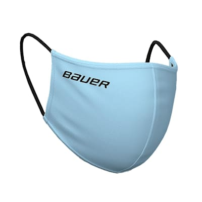 (Bauer Reversible Fabric Face Mask - Sky Blue/Plaid)